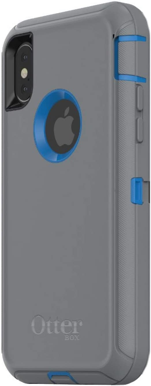 OtterBox Defender Series Case for iPhone X & iPhone Xs (ONLY), Case Only - Bulk Packaging - Marathoner (Cowabunga Blue/Gunmetal Gray)