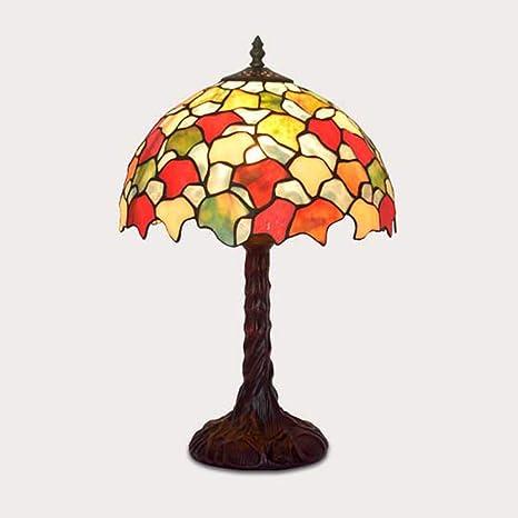 Luz de escritorio estilo Tiffany, lámpara de mesa de vidrio de ...
