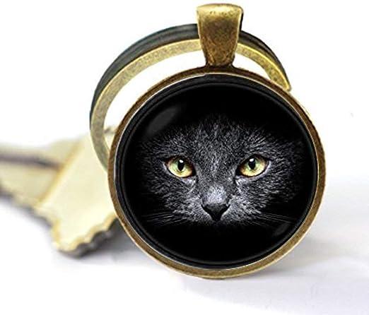 Llavero negro para gato, joyería para gatos, joyería para mascotas ...