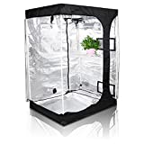 Oppolite 48''x36''x72'' 2-in-1 Hydroponic Indoor Grow Tent Room Propagation High Reflective 600D Diamond Mylar Growing Plant w/Metal Corner (48''X36''X72'')