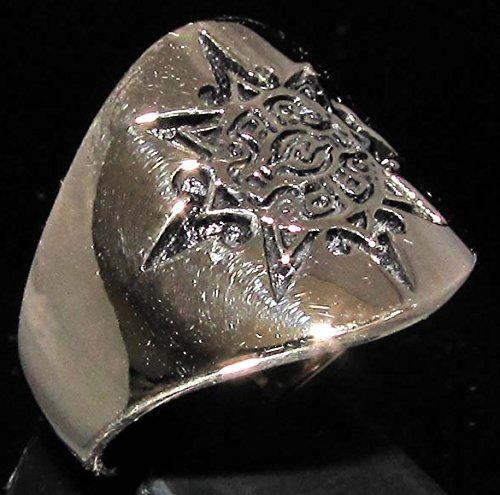 Mayan Sun símbolo tribal anillo en bronce Inca Azteca ...