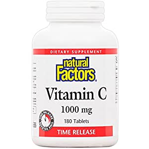 Natural Factors - Vitamin C 1000mg Time Release, Potent Antioxidant Protection, 180 Tablets