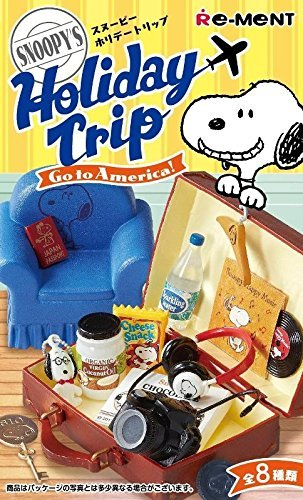 Snoopy SNOOPY'S Holiday Trip Go to America! Re-Ment miniature blind box (Single Random (Re Ment Miniature)