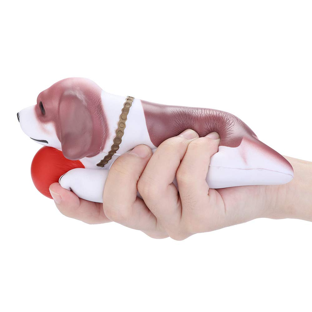 BOLUOYI Stress Relief Toys for Adults Funny,Squeeze Cute Kneeling Dog Slow Rising Cream Scented Decompression Toys,Red