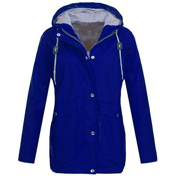 Pluie solide femme Veste à capuche imperméable à capuchon