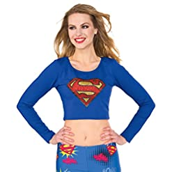 Rubie's Costume Co Women's Top, Supergirl, Small/Medium