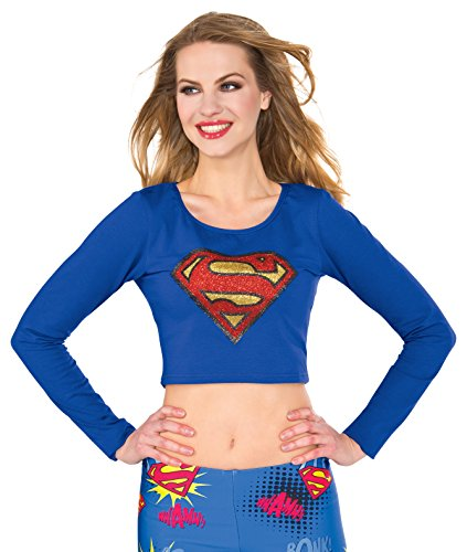 Rubie's Women's Top, Supergirl, (Supergirl Crop Top)