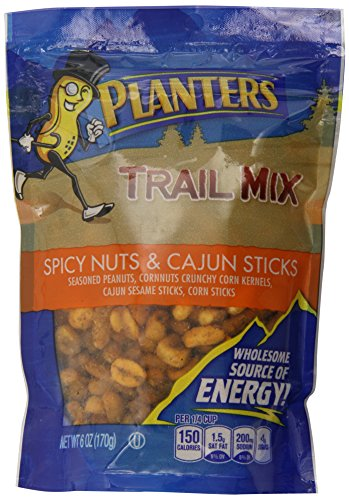 Planters Trail Mix, Spicy Nuts & Cajun Sticks, 6 Ounce (Nut Sesame Mix)