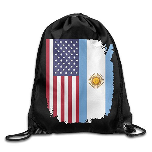 American Argentina Flag Drawstring Pack Beam Mouth School Travel Backpack Rucksack Shoulder Bags For Men And Women from 05_&_NG
