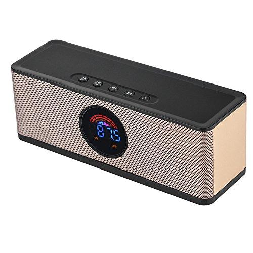 fosa Digital LED Alarm Clock Bluetooth Speaker, Wireless Por