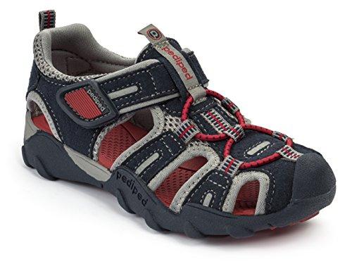 pediped Flex Canyon Water Sandal (Toddler/Little Kid/Big Kid), Charcoal Pink, 24...