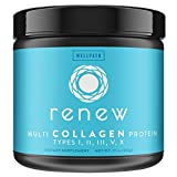RENEW Multi Collagen Protein Powder - Premium Blend of Hydrolyzed Grass-Fed Bovine, Marine, Chicken & Egg Collagen Peptides | Type I, II, III, V, and X | Vital Supplement For Women & Men | KETO | 11oz