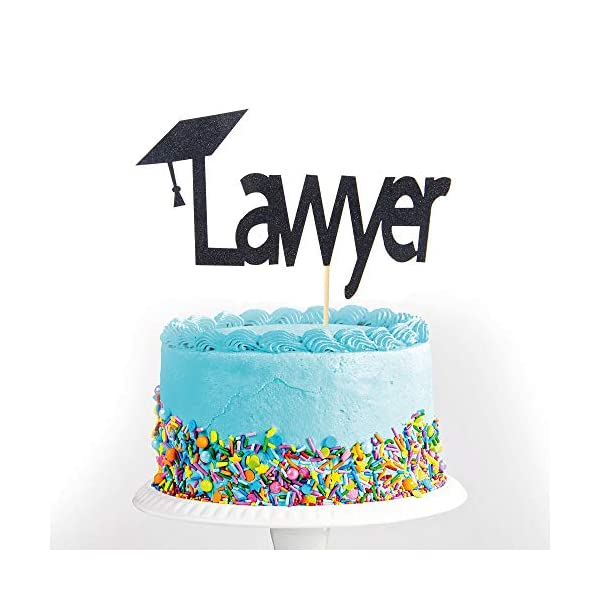 Black-Glitter-Lawyer-Cake-Topper-2019-Graduation-Congrats-Grad-Party-Decorations-Supplies-High-School-Graduation-College-Graduate-Cake-Topper