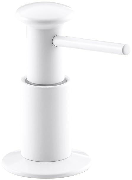Kohler K-9619-0 jabón/dispensador de jabón, blanco
