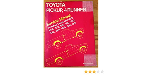 amazon com toyota pickup 4runner service manual including diesel rh amazon com 1986 toyota 4runner factory service manual Toyota 4Runner Repair Manual PDF