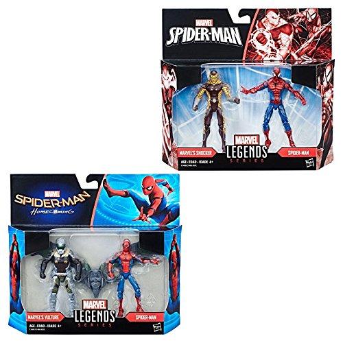 Hasbro HSBC1406 3.75 in. Spider-Man Legends Movie 2-Packs - Set of 6