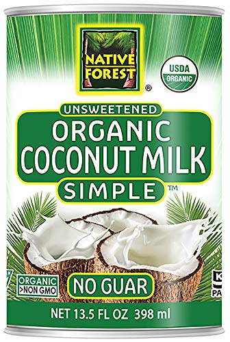 - Native Forest Simple Organic Unsweetened Coconut Milk, 13.5 Ounce Cans (Pack of 12)