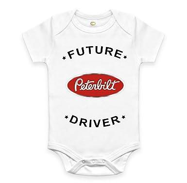 0d0629b1 Bespoke Souvenirs Rare New Future Peterbilt Truck Driver Auto Moto Baby Boy  Girl Clothes Cotton Funny