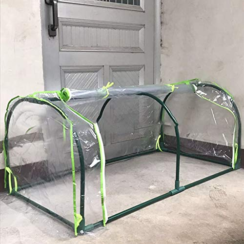Cheng Yi Protable Mini Greenhouse Cover,Vegetable Succulent Plant Waterproof UV Protected Reinforced Mini Arch Greenhouse Transparent Cover for Indoor & Outdoor,Keep Warm 47″ Lx13.6 Wx18.5 H CYFC1447