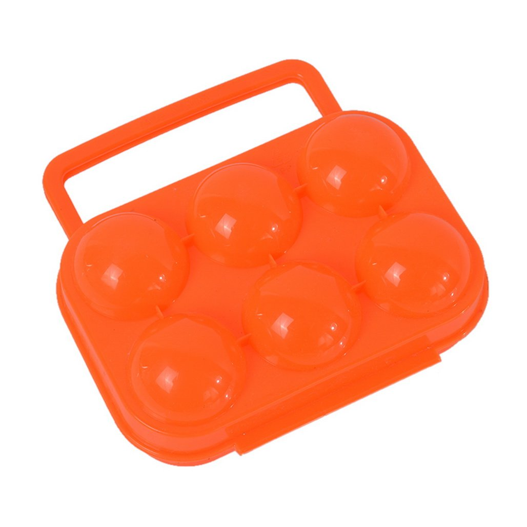 Loweryeah 6/12 Eggs Plastic Folding Eggs Carrier Portable Eggs Storage Holder for Pinic Container