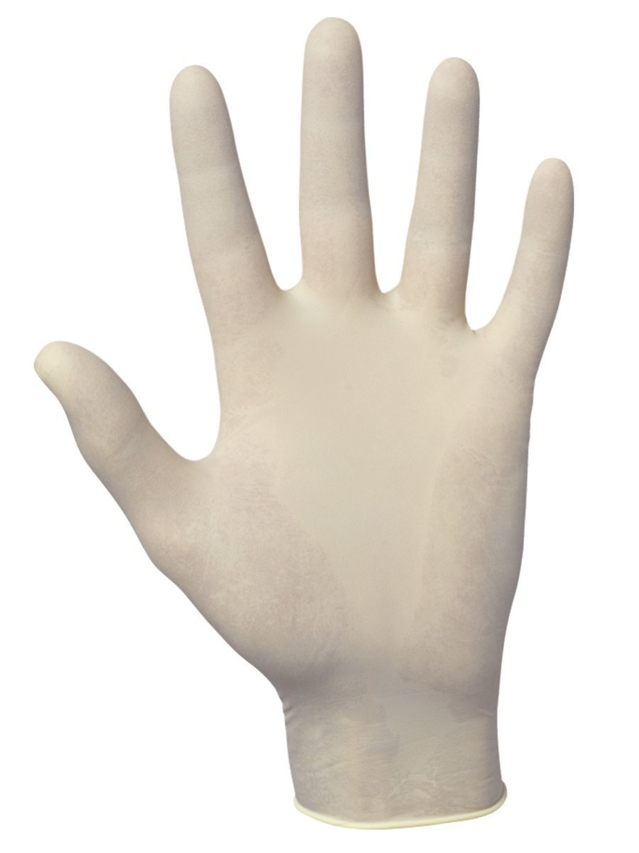 SAS Safety 6593 Value-Touch Industrial Disposable Latex 5 Mil Gloves, Large, 100 Gloves by Weight