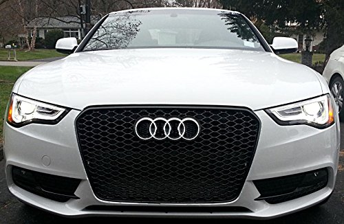 Euro RS5 Front Sport Hex Mesh Honeycomb Grill S Line Black ...