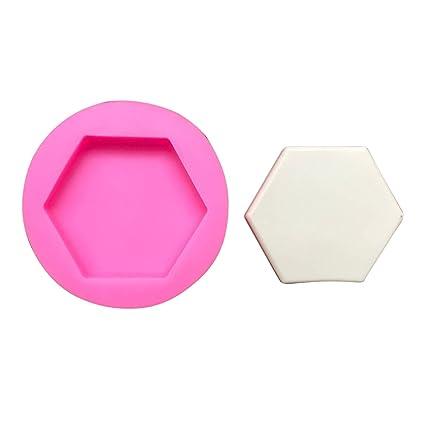 Starter Moldes de silicona para repostería - Hexagonal piedra perfumada molde de yeso decoración del coche