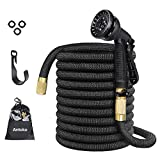 Expandable Garden Hose, Anteko 50ft Strongest Expandable Water Hose, 8 Functions Sprayer With Double Latex Core, 3/4'' Solid Brass Fittings, Extra Strength Fabric - IMPROVED Expanding Hose
