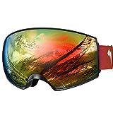 WhiteFang Ski Goggles PRO for Men Women & Youth, Over Glasses Anti-Fog UV400 Protection Snow...