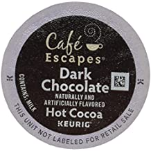 Café Escapes Hot Cocoa, Dark Chocolate, K-Cup Portion Pack for Keurig Brewers, 24-Count