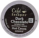 hot chocolate kcups variety - Café Escapes Hot Cocoa, Dark Chocolate, K-Cup Portion Pack for Keurig Brewers, 24-Count
