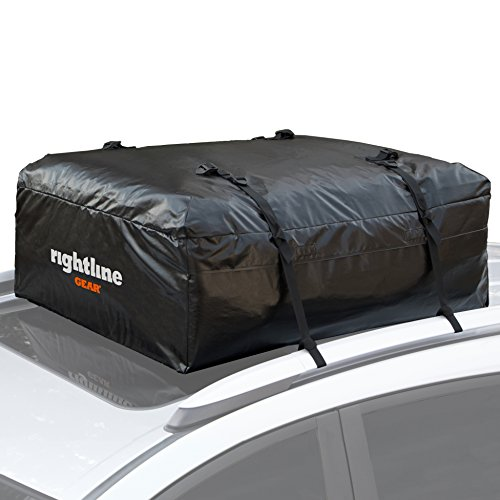 Rightline Gear 100A50 Ace Jr Car Top Carrier, 9 cu ft, Weatherproof, Attaches With or Without Roof Rack Cargo Mini Bag