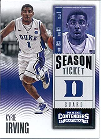 Amazon.com  2016-17 Panini Contenders Draft Picks  62 Kyrie Irving Duke  Blue Devils Basketball Card in Protective Screwdown Display Case   Collectibles ... 5d5a57e8e