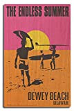 Dewey Beach, Delaware - The Endless Summer - Original Movie Poster (10x15 Wood Wall Sign, Wall Decor Ready to Hang)
