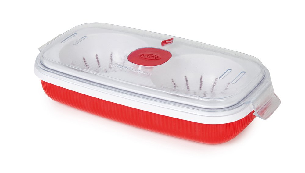 Snips 000702 Microwave Cookware Egg Poacher and Omelet Maker, Red