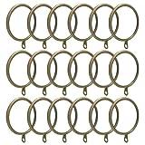 ANJUU 24 Pack 50mm Inner Diameter Round Metal Curtain Drape Sliding Eyelet Rings Antique Bronze Tone