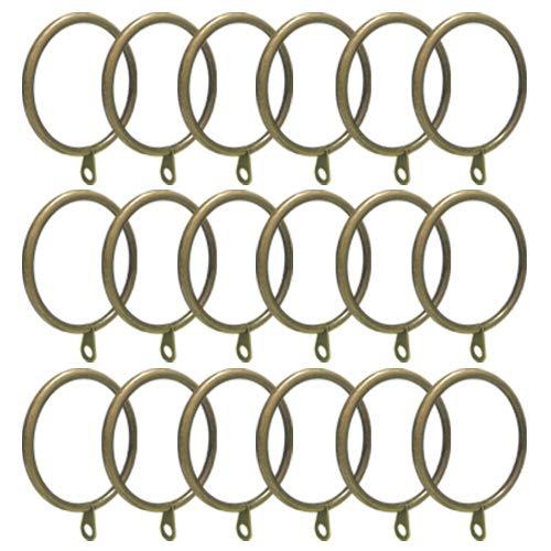 (ANJUU 24 Pack 50mm Inner Diameter Round Metal Curtain Drape Sliding Eyelet Rings Antique Bronze Tone)