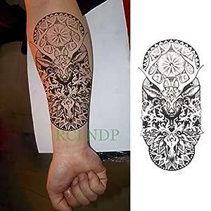 tzxdbh 3Pcs-Etiqueta engomada del Tatuaje Impermeable Totem ...