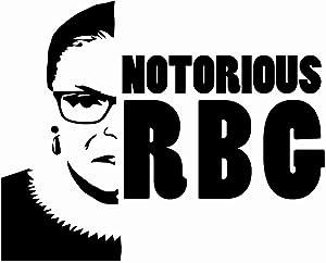 Notorious RBG Ruth Ginsburg Judge NOK Decal Vinyl Sticker |Cars Trucks Vans Walls Laptop|Black|5.5 x 4.5 in|NOK817