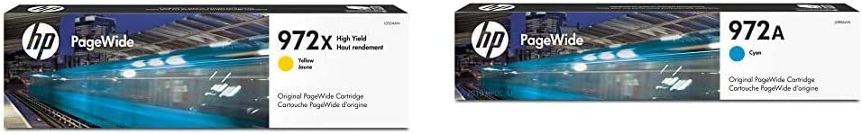 HP 972X | PageWide Cartridge High Yield | Yellow | L0S04AN & 972A | PageWide Cartridge | Cyan | L0R86AN