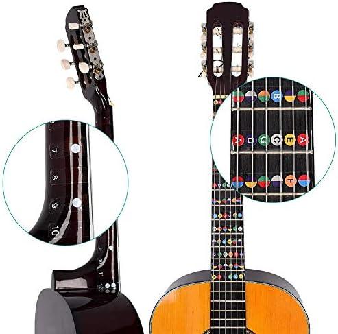 4Pc Etiquetas de Guitarra Notas Pegatina del Mapa de Trastes de ...