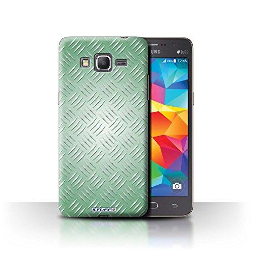 Coque de Stuff4 / Coque pour Samsung Galaxy Grand Prime / Vert Design / Motif en Métal en Relief Collection