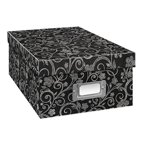 Pioneer Photo Albums B-1BW/CHLKF Chalkboard Floral Design Photo Storage Box