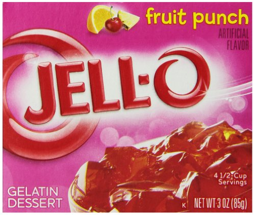 JELL-O Fruit Punch Gelatin Dessert Mix (3 oz Boxes, Pack of 6)