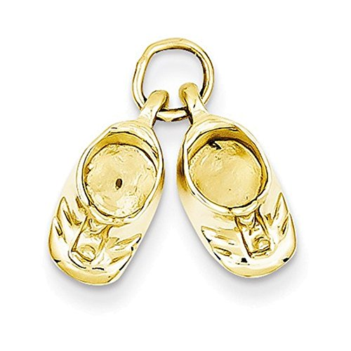 Jewelry Adviser Charms 14k Polished Baby Shoes Charm ()