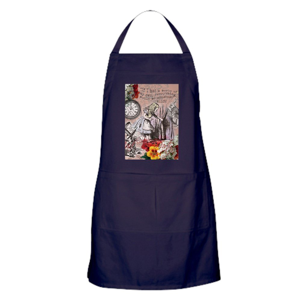 CafePress – Alice in WonderlandヴィンテージAdventuresエプロン(ダーク – キッチンエプロンポケット付き、グリルエプロン、Bakingエプロン   B073WHCF2K