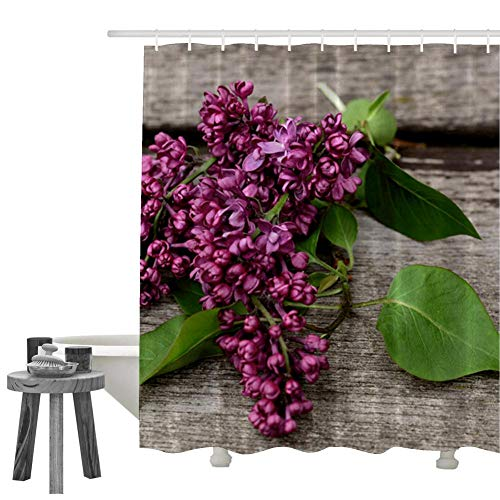 KIMOVE Fabric Shower Curtains Liners Waterproof Stall Shower Curtains for Bathroom,Printing Bath Curtains (lilac-4154947) with 60 X 72 Inch / 72 X 72 Inch / 70 X 84 Inch