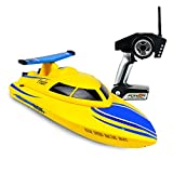 Rc Boat, ToyPark 2.4GHz Electric Race Boat 4CH High Speed Remote Control Boat