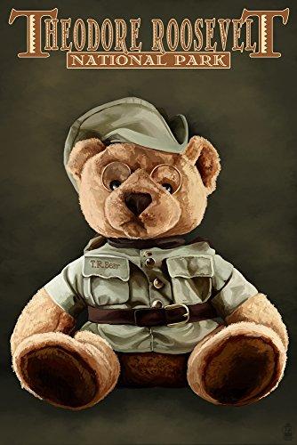 Theodore Roosevelt National Park - Teddy Bear (16x24 Fine Art Giclee Gallery Print, Home Wall Decor Artwork Poster)