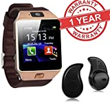 Premium Design DZ09 Bluetooth Smart Watch With Camera and Sim Card & SD Card Support Along With S530 Bluetooth Wireless Headset For All Android Smartphones (Random Colour)